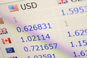 exchange rates screenshot