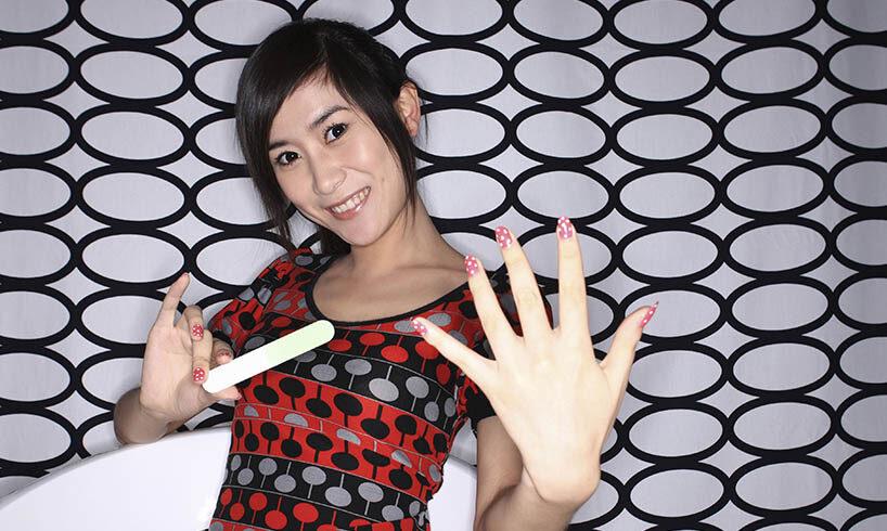 manicured finger nails
