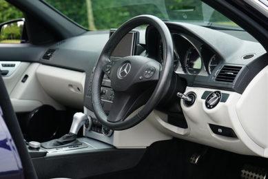 mercedes benz car interior