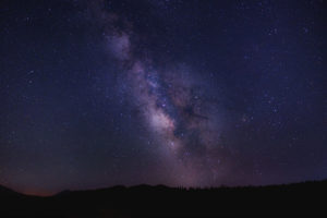 milky way night photo