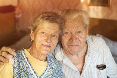 old couple portrait photo