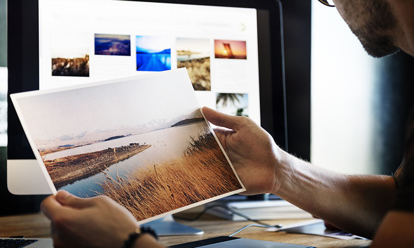 photographer printed photo