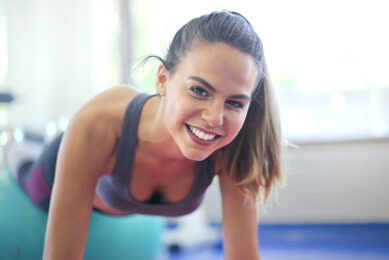smiling girl fitness