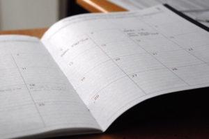 week calendar notebook
